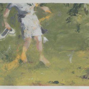 Disegno 9, olio su carta, cm 28x38,5