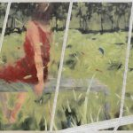 Donna nel Verde 2, olio su Dacron, cm 120x150
