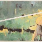 Donna nel Verde 3, olio su Dacron, cm 80x160