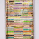 Tra le righe, mista su tavola, cm 57x36