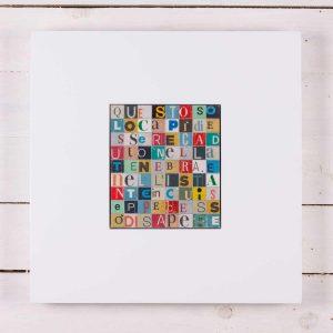 Ritagli - Martin Eden, Jack London, scultura in legno, cm 40x40