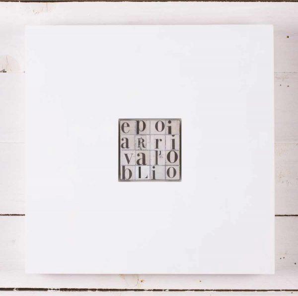 Ritagli, scultura in legno, cm 30x30