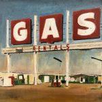 Gas, olio su tela, cm 20x24