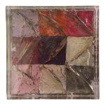 Belli dentro, resina acrilico e carta su tavola, cm 14,5x14,5