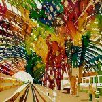 Ultima fermata Milano Centrale, mista su carta, cm 50x50