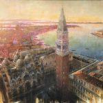 Alba su Venezia, olio su tela, cm 100x150