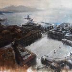 Piazza del Plebiscito, olio su tela, cm 100x150
