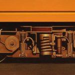 Sorpasso, olio su tela, cm 40x100