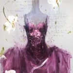 Purple Storm, olio su tela, cm 80x60