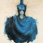 B.G., olio su tela, cm 120x100