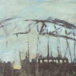 I ponti reggono le città, mista su ferro, cm 50x66