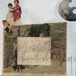 La cometa di Halley, mista su carta, cm 50x50