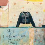 Stile is, collage e acrilico su tavola, cm 30x30