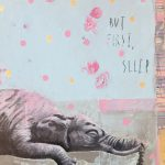 But first sleep, mista su tavola, cm 30x30