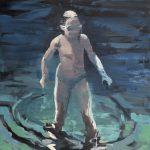 Bea in the water, olio su tela, cm 120x100