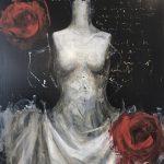 Rosen rain, olio su tela, cm 120x100