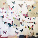 Butterfly fly, mista su tela, cm 120x120