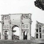 Il pensiero Classico, Marmo di Carrara e sabbie vulcaniche, cm 75x150