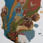 Untitled, mista su tela, cm 122x83