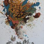 The Leaf Woman, mista su tela, cm 140x120