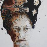 Untitled, mista su tela, cm 80x60