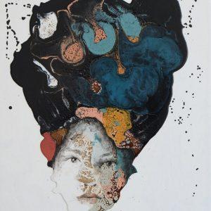 Untitled, mista su tela, cm 60x50