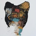 The Poetess, mista su tela, cm 60x50