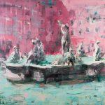 Senza titolo, olio su tavola, cm 120x120