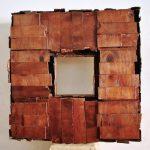 Frammento corroso, scultura in legno di recupero, cm 93x93x18