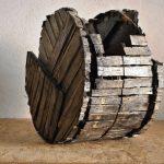 Senza titolo, scultura in legno di recupero, cm 35x22