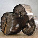 Senza titolo, scultura in legno di recupero, cm 52x25