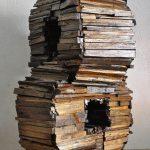 Senza titolo, scultura in legno di recupero, cm 45x51x70