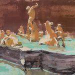 Senza titolo, olio su tavola, cm 53x122
