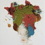 Untitled, mista su tela, cm 40x40